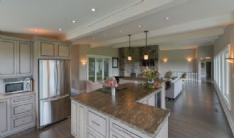 Kitchen Overlooking Living Room - Country homes for sale and luxury real estate including horse farms and property in the Caledon and King City areas near Toronto