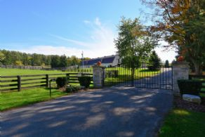 Entrance Gates - Country homes for sale and luxury real estate including horse farms and property in the Caledon and King City areas near Toronto