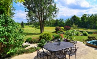 Stone Patio and Whirlpool - Country homes for sale and luxury real estate including horse farms and property in the Caledon and King City areas near Toronto