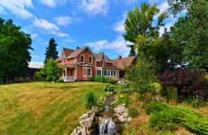 House and Waterfall - Country homes for sale and luxury real estate including horse farms and property in the Caledon and King City areas near Toronto