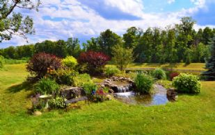 Waterfall - Country homes for sale and luxury real estate including horse farms and property in the Caledon and King City areas near Toronto