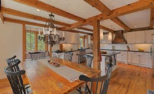 Eat-in Kitchen with Wide-board Oak Floors - Country homes for sale and luxury real estate including horse farms and property in the Caledon and King City areas near Toronto