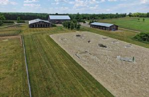 Outdoor Ring with Fibre Footing - Country homes for sale and luxury real estate including horse farms and property in the Caledon and King City areas near Toronto