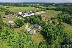 Farm Aerial - Country homes for sale and luxury real estate including horse farms and property in the Caledon and King City areas near Toronto