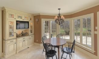 Breakfast Area opens out to Stone Terrace - Country homes for sale and luxury real estate including horse farms and property in the Caledon and King City areas near Toronto