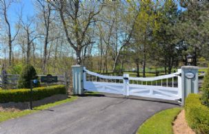 Front Paved Entrance Drive - Country homes for sale and luxury real estate including horse farms and property in the Caledon and King City areas near Toronto