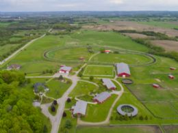 Aerial of Farm - Country homes for sale and luxury real estate including horse farms and property in the Caledon and King City areas near Toronto