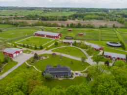 Aerial Looking South - Country homes for sale and luxury real estate including horse farms and property in the Caledon and King City areas near Toronto