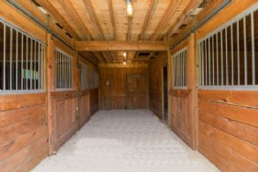 Stable Interior  - Country homes for sale and luxury real estate including horse farms and property in the Caledon and King City areas near Toronto