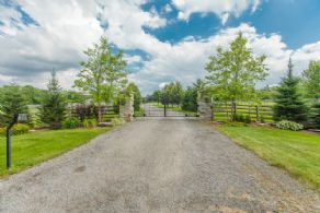 Gated Entrance - Country homes for sale and luxury real estate including horse farms and property in the Caledon and King City areas near Toronto