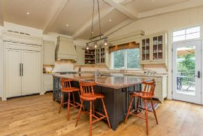 Kitchen with Walk-out to Deck - Country homes for sale and luxury real estate including horse farms and property in the Caledon and King City areas near Toronto