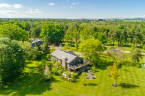 Aerial Photo - Country homes for sale and luxury real estate including horse farms and property in the Caledon and King City areas near Toronto