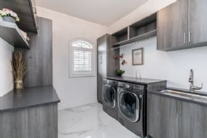 Main Floor Laundry - Country homes for sale and luxury real estate including horse farms and property in the Caledon and King City areas near Toronto