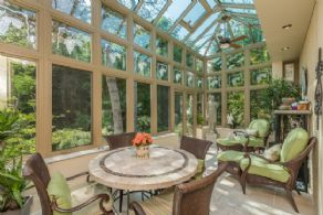Solarium Overlooking Grounds - Country homes for sale and luxury real estate including horse farms and property in the Caledon and King City areas near Toronto