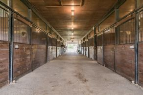 Barn Interior - Country homes for sale and luxury real estate including horse farms and property in the Caledon and King City areas near Toronto