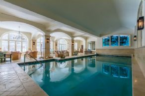 Pool with Spa Area - Country homes for sale and luxury real estate including horse farms and property in the Caledon and King City areas near Toronto