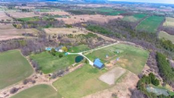 Property Aerial - Country homes for sale and luxury real estate including horse farms and property in the Caledon and King City areas near Toronto