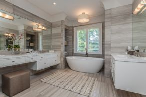 Master Bath with Heated Floors - Country homes for sale and luxury real estate including horse farms and property in the Caledon and King City areas near Toronto