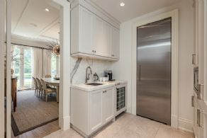 Pantry with Walk-in Cooler & Coffee Station - Country homes for sale and luxury real estate including horse farms and property in the Caledon and King City areas near Toronto
