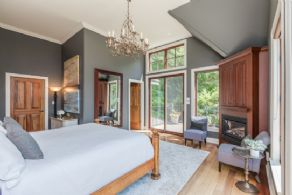 Master suite with private deck & fireplace - Country homes for sale and luxury real estate including horse farms and property in the Caledon and King City areas near Toronto