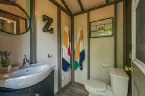 Bathroom in bunkie - Country homes for sale and luxury real estate including horse farms and property in the Caledon and King City areas near Toronto