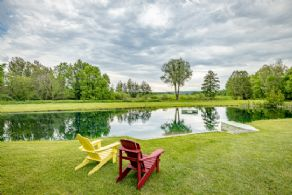 Pond - Country homes for sale and luxury real estate including horse farms and property in the Caledon and King City areas near Toronto