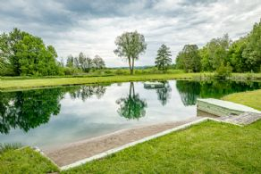 Beach and Swimming Platform - Country homes for sale and luxury real estate including horse farms and property in the Caledon and King City areas near Toronto