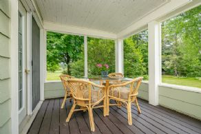 Office Covered Porch - Country homes for sale and luxury real estate including horse farms and property in the Caledon and King City areas near Toronto