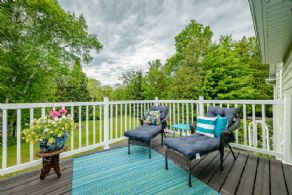 Deck off Master Suite - Country homes for sale and luxury real estate including horse farms and property in the Caledon and King City areas near Toronto