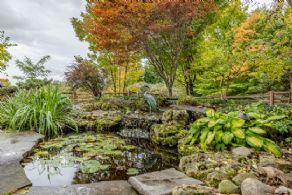 Koi Pond - Country homes for sale and luxury real estate including horse farms and property in the Caledon and King City areas near Toronto