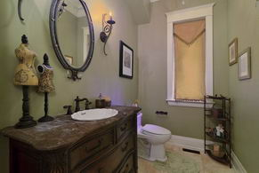Powder Room - Country homes for sale and luxury real estate including horse farms and property in the Caledon and King City areas near Toronto