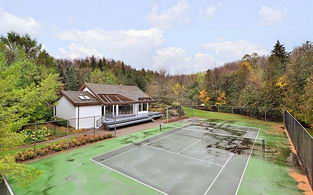 Guest House and Tennis Court - Country homes for sale and luxury real estate including horse farms and property in the Caledon and King City areas near Toronto