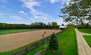 Riding Ring and Stable - Country homes for sale and luxury real estate including horse farms and property in the Caledon and King City areas near Toronto