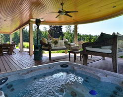 Covered Hot Tub - Country homes for sale and luxury real estate including horse farms and property in the Caledon and King City areas near Toronto