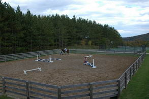 Riding Ring and Tennis Court - Country homes for sale and luxury real estate including horse farms and property in the Caledon and King City areas near Toronto