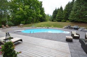 View of Inground Pool and Property - Country homes for sale and luxury real estate including horse farms and property in the Caledon and King City areas near Toronto