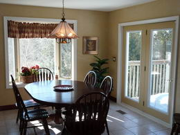 Breakfast Area - Breakfast area with walk-out to deck - Country homes for sale and luxury real estate including horse farms and property in the Caledon and King City areas near Toronto